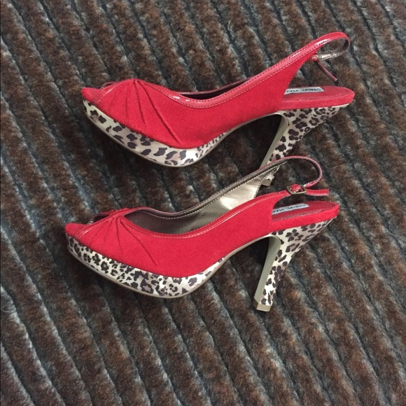 red and leopard print heels